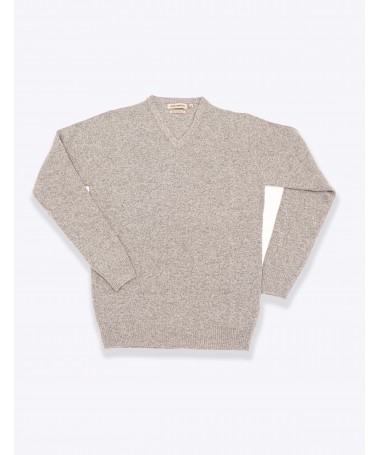 pull col v gris marco serussi
