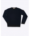 pull noir col rond marco serussi