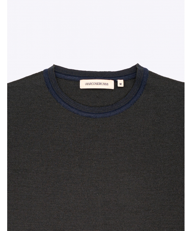 Pull col rond marine marco serussi
