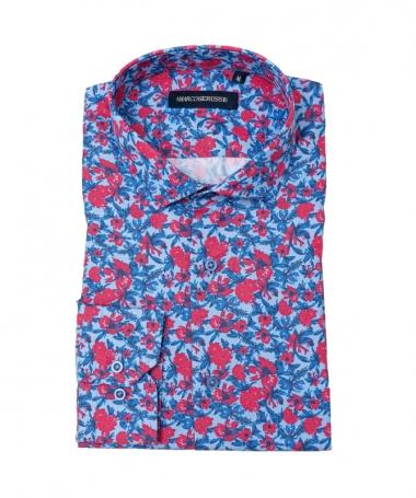 chemise à fleurs imprimée