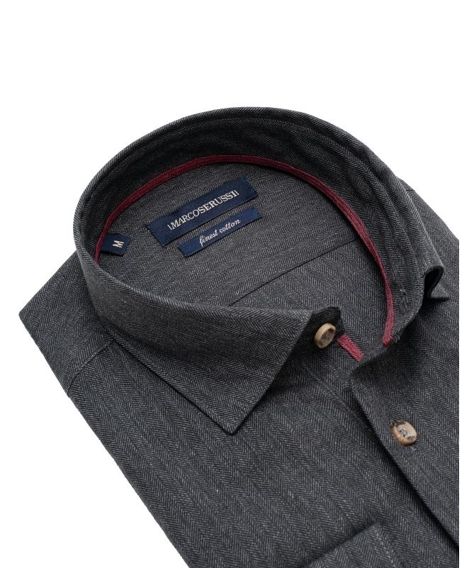 chemise slim anthracite