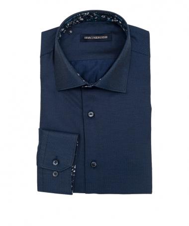 chemise bleu marine marco serussi