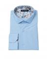 chemise slim bleu ciel marco serussi