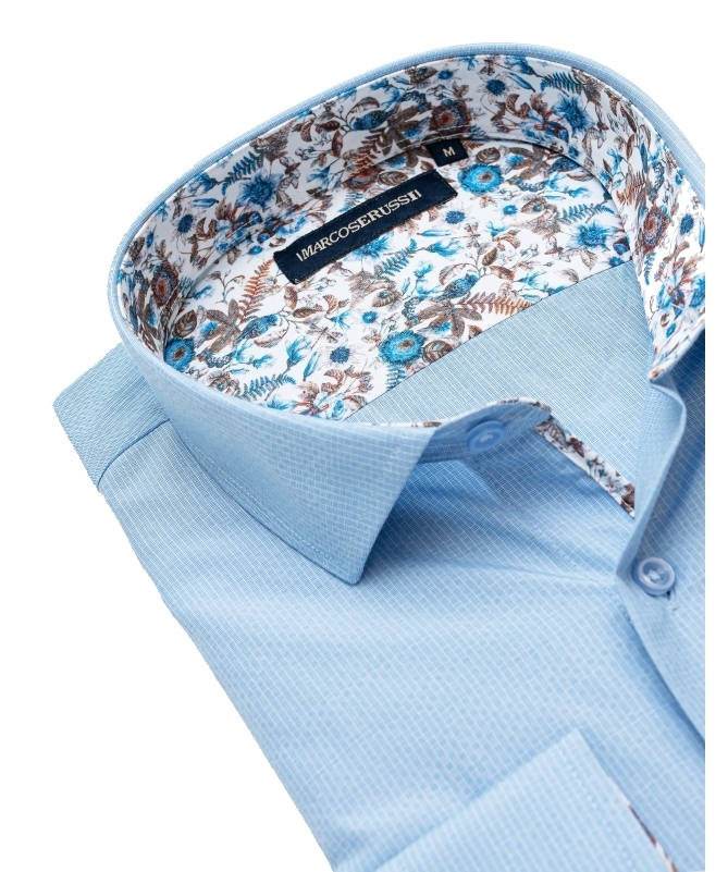 chemise marco serussi bleu ciel