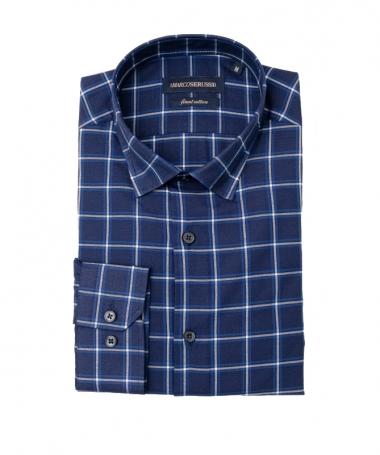 chemise à carreaux marine