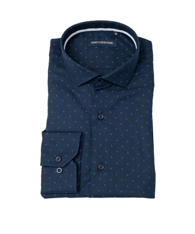 chemise à motif bleu marine