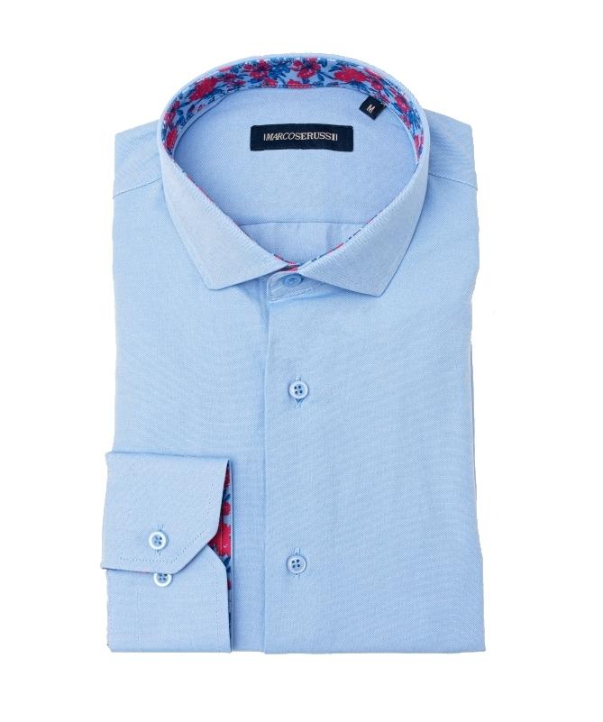 chemise bleu ciel marco serussi