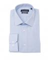 chemise unie bleu ciel marco serussi