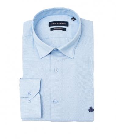 chemise bleu ciel cintrée