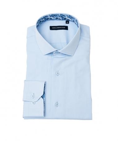 chemise homme cintrée bleu ciel