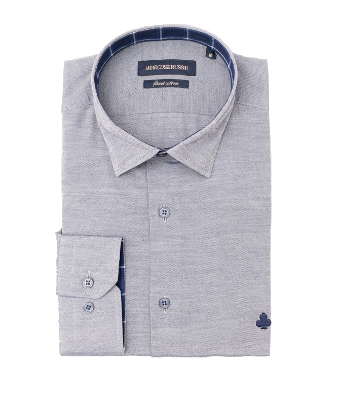 chemise gris slim