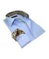chemise homme bleu ciel