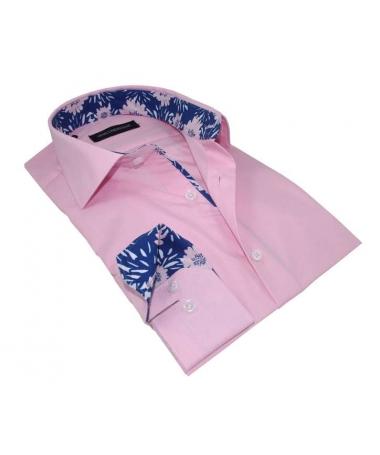 chemise rose cintrée