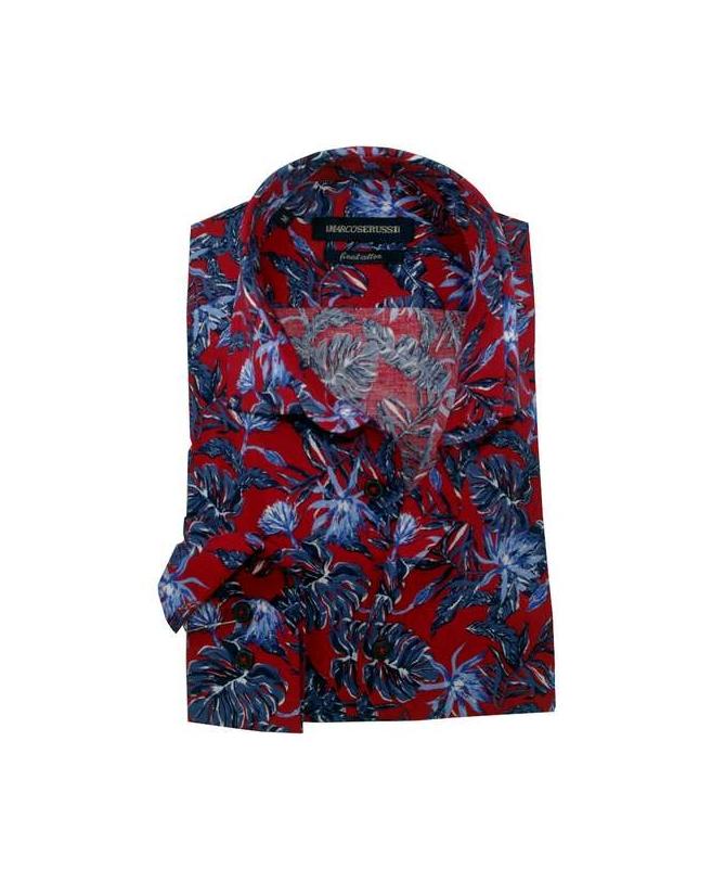 chemise cintrée rouge