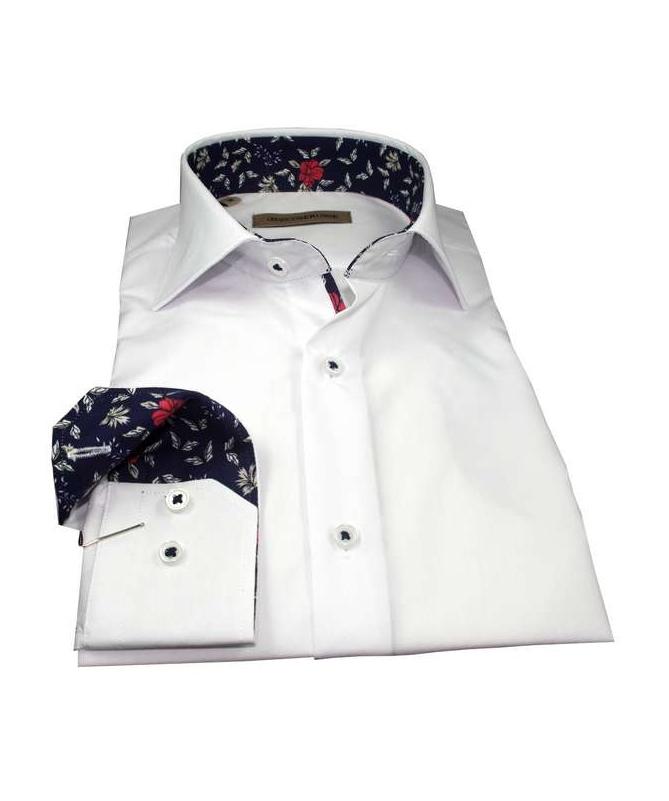 chemise manche longue blanche coupe droite