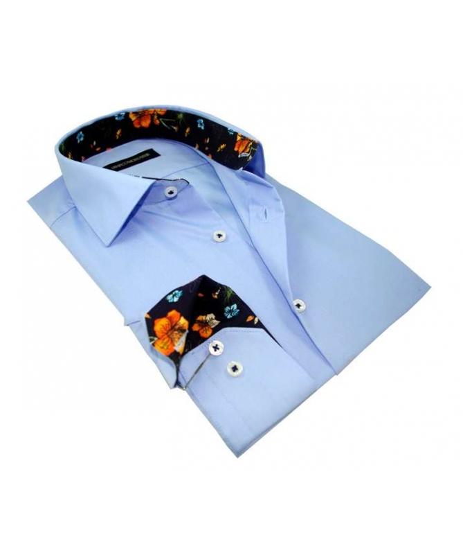 chemise bleu ciel
