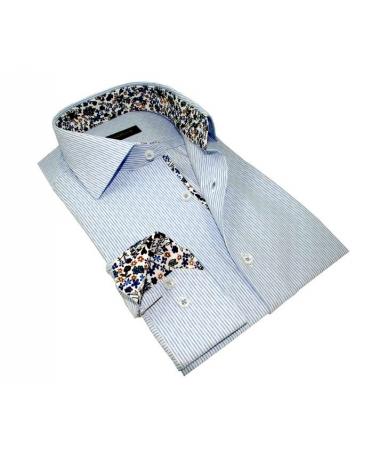 chemise coupe droite bleu clair