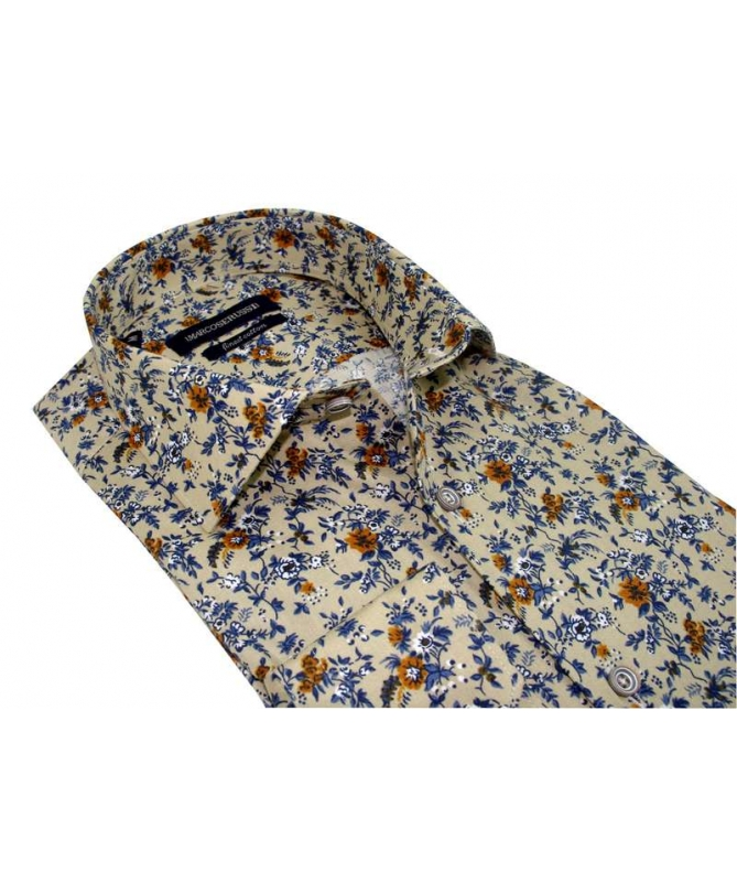 chemise coupe droite beige
