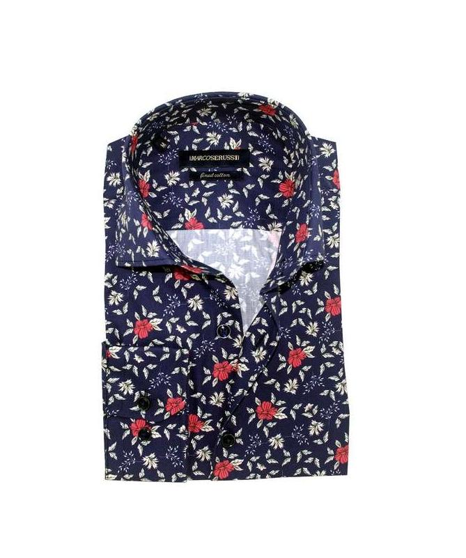 chemise à fleurs coupe regular