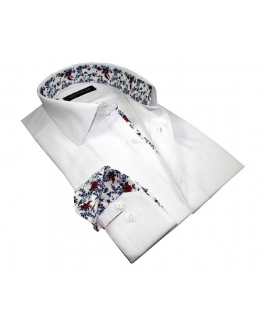 chemise slim fit blanche