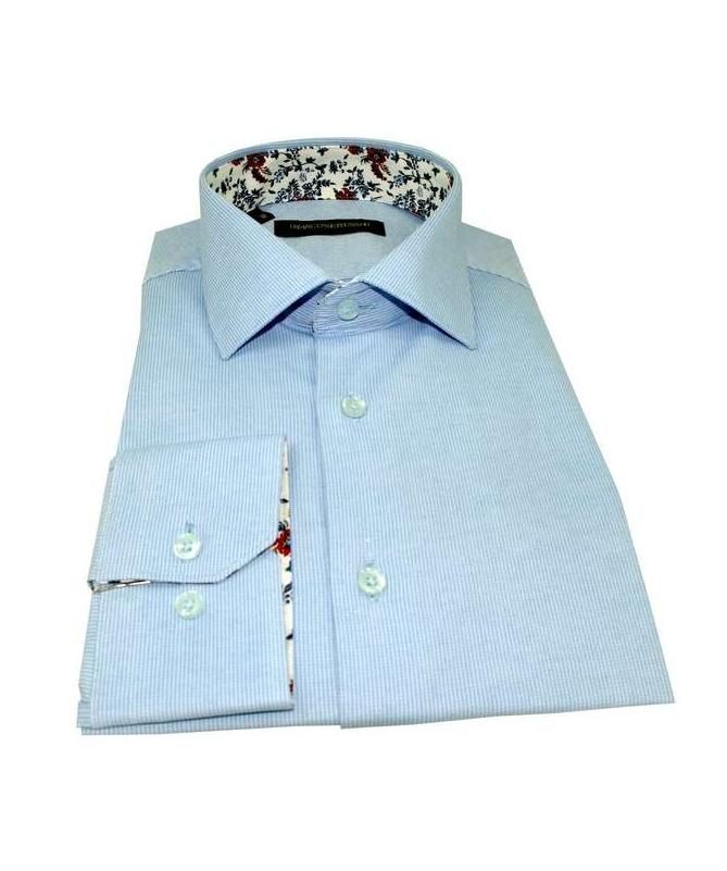 chemise slim fit bleu ciel