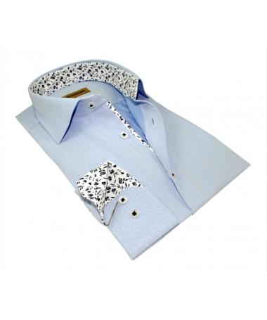 chemise coupe regular bleu ciel