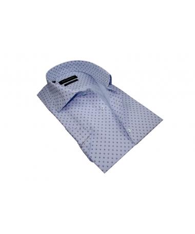 chemisette bleu ciel imprimée