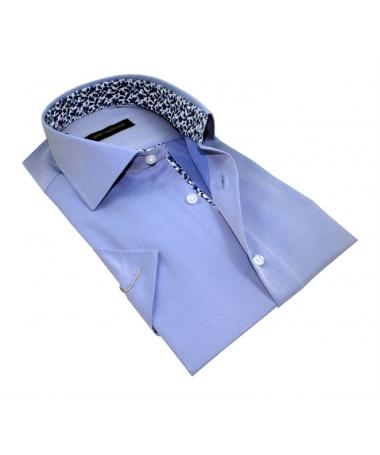 chemisette bleu ciel coupe droite