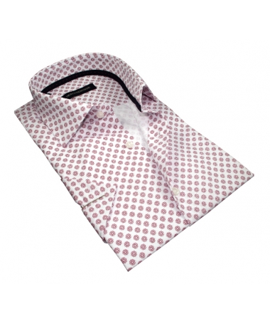 chemise manche courte coupe droite