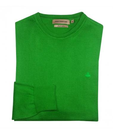pull vert homme 100% coton