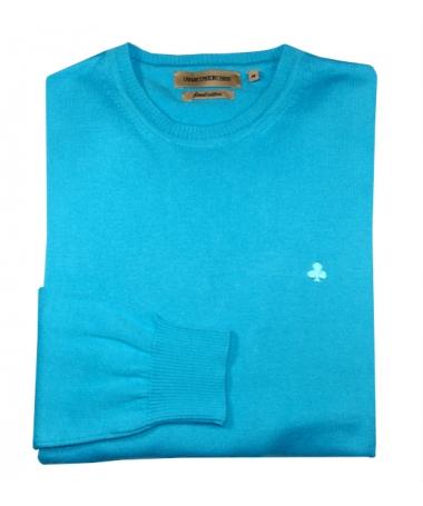 pull bleu turquoise