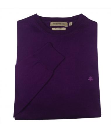 pull violet homme