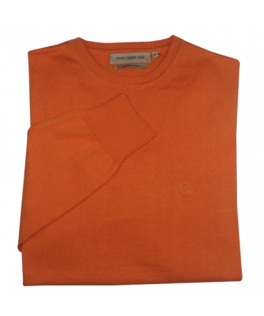 pull orange homme
