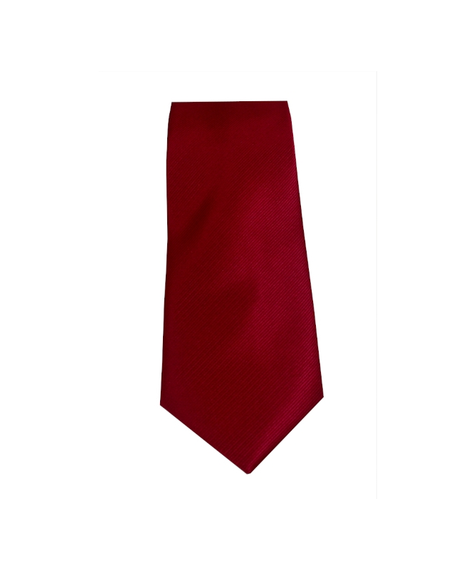 cravate rouge unie
