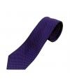 cravate bleu à motif rose