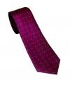 cravate fushia à petit pois