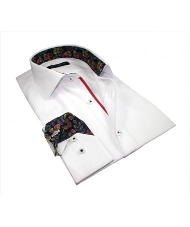 chemise blanche slim fit