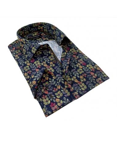 chemise bleu marine cintrée
